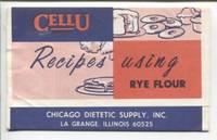 Cellu Recipes using Rye Flour