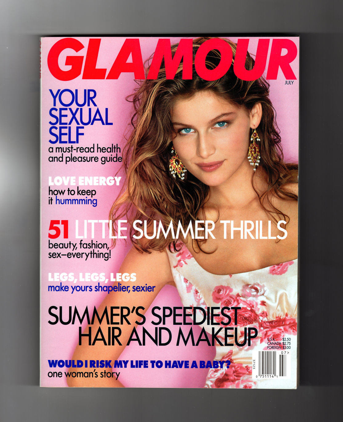 Glamour Magazine July 1997 Laetitia Casta Cover Sexual Self Love Energy 51 Summer Thrills