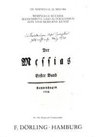 Auktion 108, 18.-22. Mai 1984 : Wertvolle Bücher, Manuskripte Und  Autographen, Alte Und Moderne Kunst.