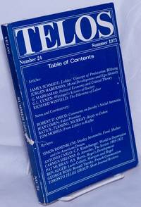 image of Telos No. 24, Summer, 1975