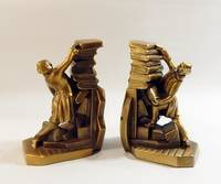 Vintage Librarian Bookends