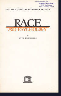 Race and Psychology: The Race Question in Modern Science