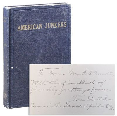 Boston: Roxburgh Publishing Company Inc, . First Edition. Octavo (19.75cm.); publisher's dark blue g...