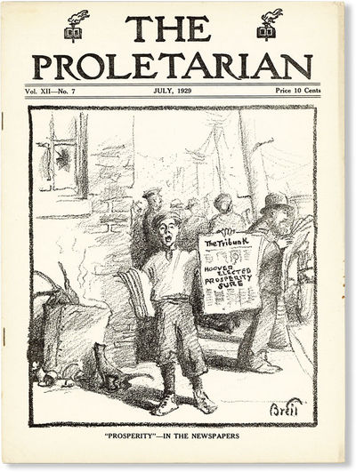 Chicago: Proletarian Party of America, 1929. First Edition. Paperback. Official organ of the Proleta...