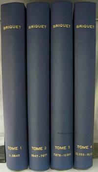 LES FILIGRANES: DICTIONNAIRE HISTORIQUE DES MARQUES DU PAPIER DES LEUR  APPARITION VERS 1282 JUSQU'EN 1600 (4 VOLUMES) by  C. M Briquet - Hardcover - Second Edition - 1923 - from Nick Bikoff, Bookseller (SKU: 14252)