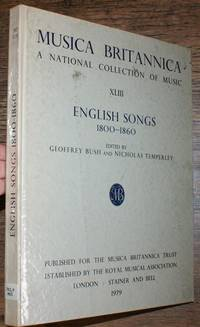 Musica Britannica, A National Collection of Music, XLIII, English Songs 1800-1860