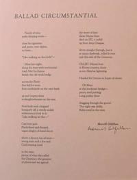 Ballad Circumstantial (Signed Broadside)