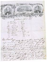 1844 stampless illustrated letter sheet for Henry Clay & Frelinghuysen campaign against the Democrat  James Polk of Tenn. by G H Brodhead - 1st - 1844 - from Bradford Dewolfe Sheff- Bookseller (SKU: 109-19)