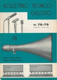 Bollettino tecnico Geloso n° 78 - 79. Numero speciale dedicato all'elettroacustica.