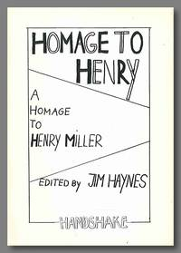 HOMAGE TO HENRY  A HOMAGE TO HENRY MILLER [wrapper title]