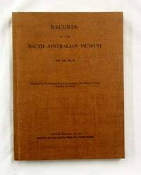 Records of the South Australian Museum Volume VIII No 4 December 1947 by Hale, Herbert H. [Edited by] - 1947