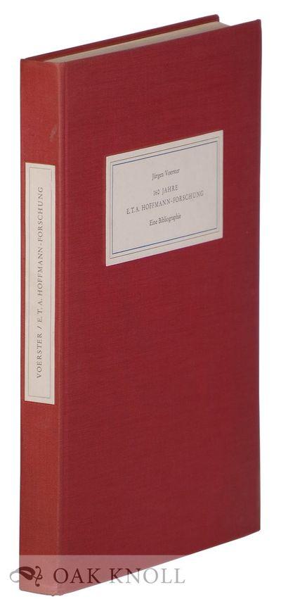 Stuttgart: Fritz Eggert, 1967. cloth, paper cover and spine labels. Hoffmann, E.T.A.. 8vo. cloth, pa...