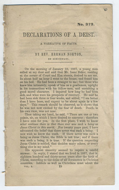New York: American Tract Society, . 12mo. 8 pp. At head of title: