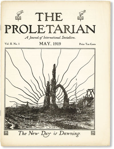 Detroit: Proletarian Party of America, 1919. First Edition. Quarto (30.25cm); illustrated wrappers, ...
