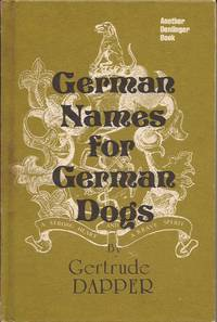 image of German Names for German Dogs