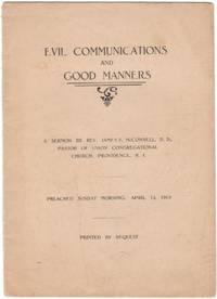 image of 1913 Rhode Island Ephemera Evil Communications and Good Manners