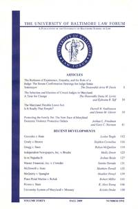 The University of Baltimore Law Forum, Spring 2009; v. 40, no. 1