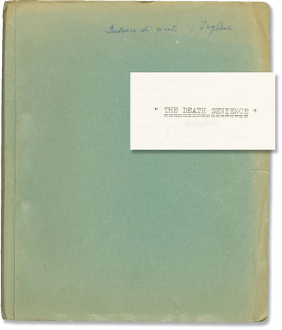 N.p.: N.p.. Draft script for an unproduced film. With a few annotations in holograph ink. Four chara...