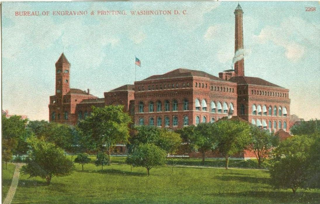 United States – Bureau of Engraving & Printing, Washington D C  1908 used  Postcard by - - from postcards&ephemera and Biblio com