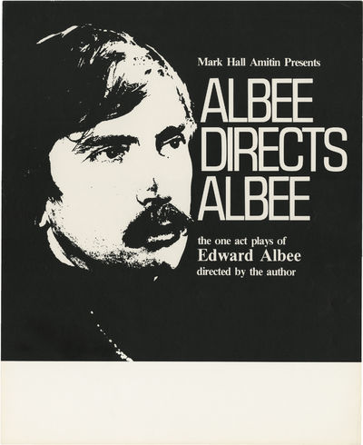 New York: Mark Hall Amitin, 1979. Vintage poster for Albee Directs Albee, a forty week international...