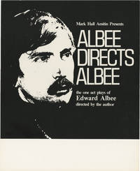 Albee Directs Albee (Original poster for The One Act Plays of Edward Albee | Directed by the Author | Presented by Mark Hall Amitin as a forty week international tour in 1978-1979)