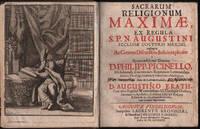 1696 Sacrarum Religionum Picinelli Augustinus Augustinian Order Religion Canon