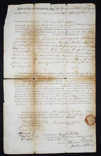 image of Printed and Handwritten Deed for lot #14 in Sedgwick, Hancock County, Maine