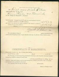 Documents Legal (Administrator's Account):  The Final Account of Orrick S. Chase Administrator of the estate of Henry Chase late of Harwich in the County of Barnstable, Deceased:.