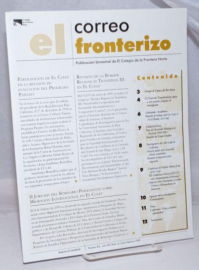 Tijuana: Colegio de la Frontera Norte, 1999. 12p., 8.25x11 inches, text in Spanish, photos, news, ev...