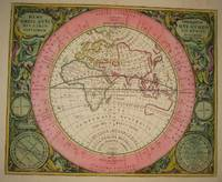 (Old World hemispheric map with climatic zones): Hemisphaerium Orbis Antiqui, Cumzonis, Circulis, Et Situ Populorum Diverso