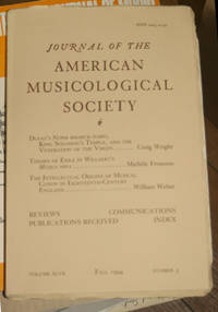 Journal of the American Musicological Society. Volume XLVII Fall 1994, Number 3