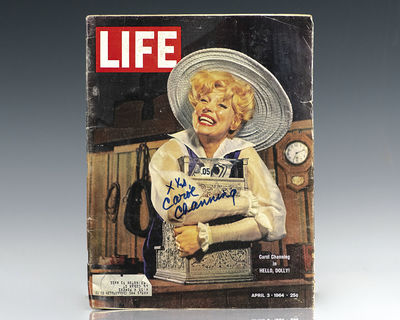 New York: Life Magazine, 1964. April 3, 1964 issue of Life Magazine signed by legendary musical actr...
