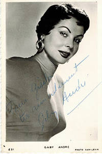 image of Photograph of Gaby André (1920-1972) . Signed