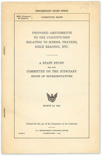 1964. House Committee on the Judiciary. House Committee on the Judiciary. The Constitutionality of P...