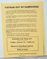 Vietnam out of Kampuchea! [handbill]