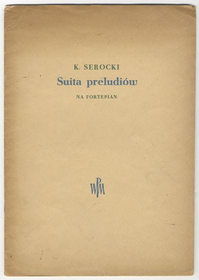 : Polskie Wydawnictwo Muzyczne , 1954. Folio. Wrappers. 24 pp. Wrappers somewhat worn; fraying to he...