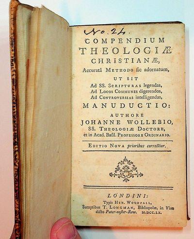Londini : Typis Hen. Woodfall, Sumptibus T. Longman, 1760. Boards. Good. viii, 266, pages. 4 1/4 x 6...