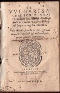1558 De Vulgari Sacrae Scripturae Cockburn Holy Scriptures Latin Church Bible