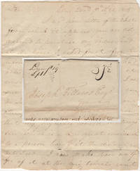 Stampless War Rate letter from a land owner in Prince William County, Virginia offering to sell property to a colleague in Genesee County, New York