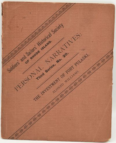 Providence: Published by The Society | Rhode Island Soldiers and Sailors Historical Society, 1885. L...