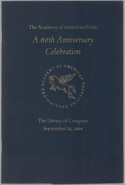 New York: The Academy of American Poets, 1994. Softcover. Fine. First edition. Octavo. Stapled self-...