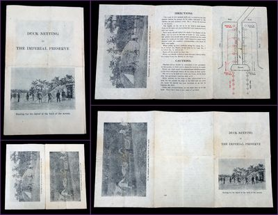 Japan, 1947. A tri-fold informational pamphlet on how to participate in the noncompetitive hunting s...