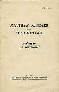 Matthew Flinders and Terra Australis.  Pamphlet