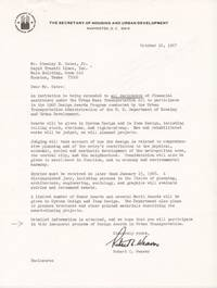 [African-Americana][Civil Rights] Documents Related to the Work of the First African American Appointed to a United States Cabinet Position
