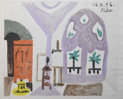 Cannes, France: Devaye Imprimeurs, 1960. Broadside. Near fine. Picasso, Pablo. Broadside 22