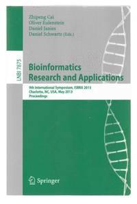 Bioinformatics Research and Applications  9th International Symposium,  ISBRA 2013, Charlotte, NC, USA, May 20-22, 2013, Proceedings