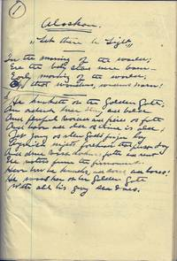 "UNPUBLISHED AUTOGRAPH MANUSCRIPT: ALASKAN. ""LET THERE BE LIGHT"