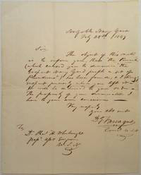 Sarcastic Autographed Letter Signed by  David (1801 - 1870) FARRAGUT - Signed - 1849 - from Argosy Book Store and Biblio.com