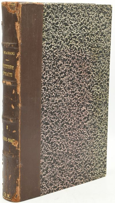 Port-au-Prince: Imprimerie Cheraquit, 1922. Half Leather. Very Good binding. Large 8vo.; in publishe...