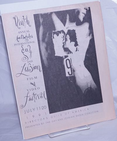 Los Angeles: The Gay and Lesbian Media Coalition, 1991. Event calendar folded to 8.5x11 inches, film...